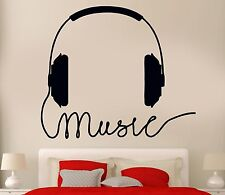 Wall Decal Headphones Music Rock Pop Songs Cool Decor For Bedroom (z2734)