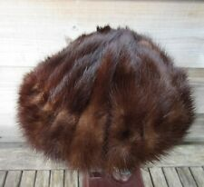 19652bbc95c 1950-60s real fur brown mink sea urchin look beret hat