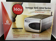 Iomega NAS 100d Series 160GB Network Attached Storage Wireless PC/Mac/Linux/UNIX