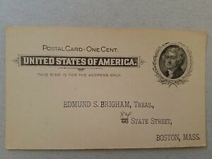 US  Preprinted 1c Postal Card, Boston Mass. , The Hale Club