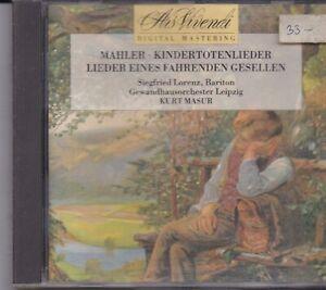 Siegfried Lorenz-Mahler cd album