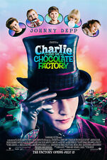 Charlie and the Chocolate Factory Movie Poster 27 x 40 D/S Kelly Johnny Depp