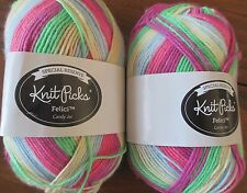 Knit Picks FELICI Yarn CANDY JAR Lot of 2 Skeins Fingering Merino Wool/Nylon New