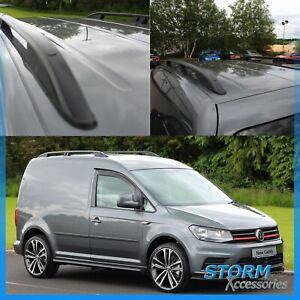 BLACK STX ALUMINIUM ROOF BARS - ROOF RAILS - PAIR - SWB FOR VW CADDY 2010 ON