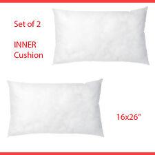 "IKEA 2 Cushion Pad INNER Throw Pillows Insert 16"" x 26"" White NEW"