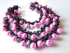 Modeschmuck-Halsketten & -Anhänger im Collier-Stil mit Perlen-Misch-Metalle