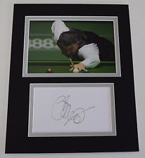 John Parrott Signed Autograph 10x8 photo mount display Snooker Sport AFTAL COA