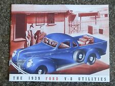 1939 FORD V8 UTES & PANEL VAN  BROCHURE 'RARE' RHD AUST VERSION  100% GUARANTEE