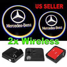 2x Wireless Ghost Shadow Laser Projector Logo LED Courtesy Lights Mercedes Benz