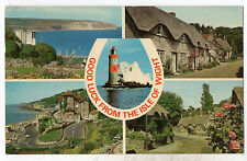 ISLE OF WIGHT = RP, Multi-View of 5 Views. Mailed 1972 to BEAWORTHY, DEVON.