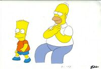 Simpsons Original Production Cel Rare Season 1 Ep 1 & w/o Background