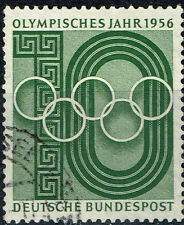 Germany Melburn Olympic Games stamp 1956