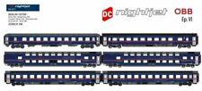 L.S. Models World, MW1810, 6 tlg. Personenwagen-Set nightjet der ÖBB, NEU, OVP