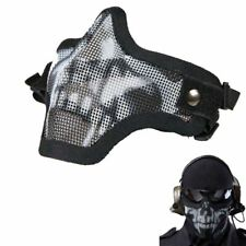 Strike Metal Mesh Protective SKULL Mask Half Face Tactical Airsoft Military Mask