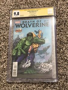 Death Of Wolverine #1 Herb Trimpe DWC Variant CGC 9.8 SS Stan Lee Signed