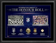 Western Bulldogs & Footscray VFL/AFL Honour Roll with Medallions Print Framed
