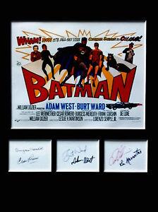 BATMAN cast signed autographs PHOTO DISPLAY Adam West Burt Ward Cesar Romero