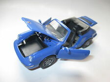 Porsche 911 (964) Carrera Cabriolet Cabrio 2/4 in blau blue, NZG in 1:43 boxed!