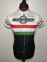 Palmasino Cyclesport Italian Flag Colours Cycling Shirt Jersey Short Sleeve S