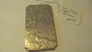 CHINESE SILVER SCROLL OR PAPERWEIGHT hallmarked