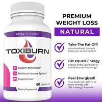 Toxiburn Keto Diet Pills Advanced Weight Loss Keto Burn 360 Slim BHB Fat Burner