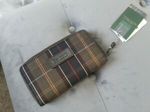 Barbour tartan purse New