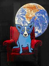 """Blue Dog George Rodrigue      """"Space Chair""""      MAKE OFFER     BA DSS"""