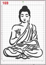 Sitting Buddha Meditating Stencil MYLAR A4 sheet strong resuable Deco craft Art