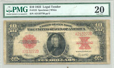 $10 Series 1923 United States Note with Poker Chip back design PMG Very Fine 20