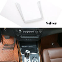 Silver Front Water Cup Holder Frame Trim Cover Molding TrimFor BMW X5 E70 08-13