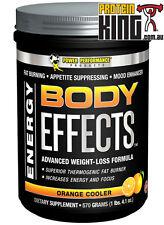 BODY EFFECTS 570G ORANGE COOLER FAT BURNER MOOD ENHANCR ENERGY POWER PERFORMANCE