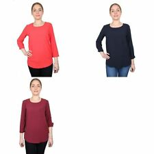 Atmosphere Patternless Casual Tops & Shirts for Women