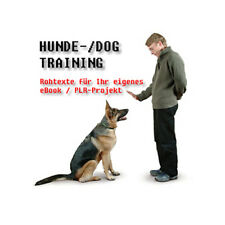 Rohtextvorlagen para su propio ebook, tema: perros Training (Dog-training) – PLR