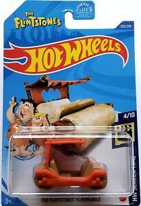 2020 Hot Wheels Mainline #235 - The Flintstones Flintmobile (Orange) GHC76