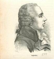 Adrien-Marie Legendre 1752-1833 mathématicien mathématique  algèbre GRAVURE 1883