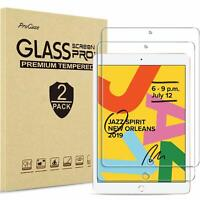 2 Pack Tempered Glass Screen Protector For Apple iPad 10.2 (2019) 7th Generation