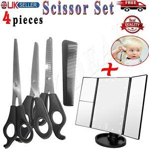 Professional Hair Cutting Scissors + Mirror Salon Barber Shears/Thinning/Set Kit
