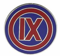 US Army 9th IX Corps Hat or Lapel Pin H14071D48
