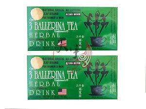 2 x 3 BALLERINA TEA SLIMMING TEA FOR DIET SLIM WEIGHT LOSS 18 TEA BAGS