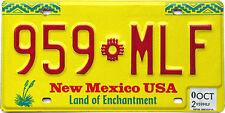 New Mexico YELLOW ZIA SUN License Plate
