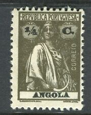PORTUGUESE ANGOLA;  1914-20s early Ceres issue fine Mint hinged 1/4c. value