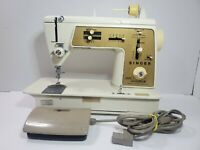 VTG Singer Model 640 Touch & Sew Gold Deluxe Zig Zag Sewing Machine Works Nice