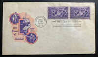 1939 Cooperstown USA First day Cover FDC Baseball Centenary Anniversary