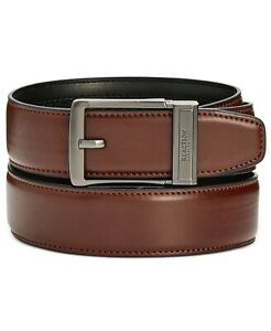 New Kenneth Cole Men's Size Small 30-32 Brown Exact Fit Dress Belt