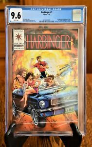 HARBINGER #1 CGC 9.6 White Pages 1st App COUPON incld Beauty KEY issue