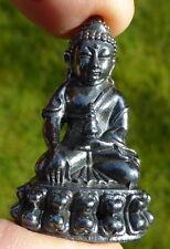 REAL RAINBOW JET SEE LEK LAI (Black Jewel of Thailand) STATUE MEDICINE BUDDHA.