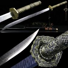 Handmade Chinese Sword Broadsword High Manganese Steel Alloy Tsuba Sharp Blade