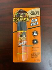GORILLA All Purpose Clear GLUE STICK Strong Permanent Bond ~ Paper Wood Fabric