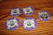#5 Five William Mckinley $500 Poker Chips Golf Ball Marker - Card Guard