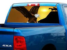 P425 Eagle Horses Rear Window Tint Graphic Decal Wrap Back Truck Tailgate